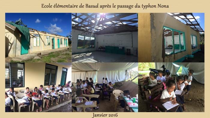 ecole basu aprs le passage du typhon Nona copy